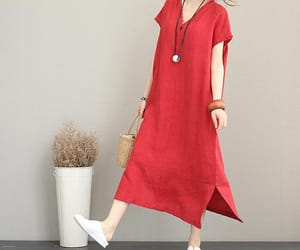 dress, maxi dress, and pocket dress image