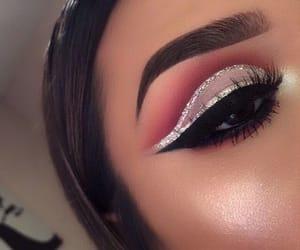 eyeliner, glitter, and trend image