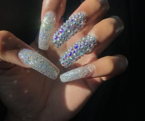 long, long nails, and nails image