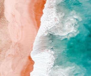 art, ocean, and beach image