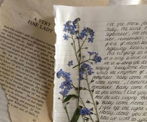 book, flowers, and journal image