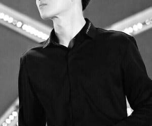 black and white, exo, and k-pop image