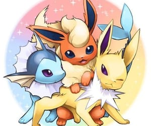 pokemon, vaporeon, and flareon image