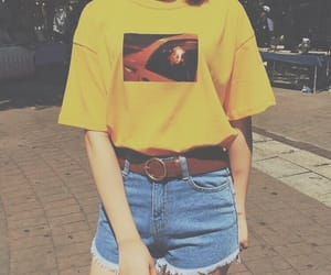 outfit, fashion, and yellow image