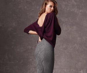 fashion, knitwear, and bare back image