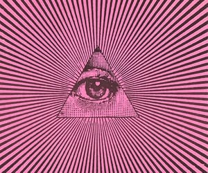 eye, triangle, and illuminati image