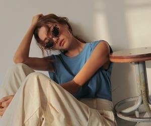 girl, glasses, and nice image