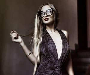 beautiful, black, and glasses image