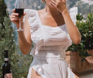 model, travel, and white dress image