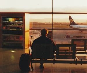 travel, airport, and airplane image