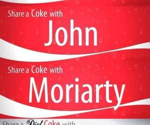 cocacola, sherlock, and moriarty image