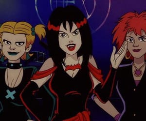 hex girls, band, and cartoon image