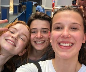 stranger things, sadie sink, and millie bobby brown image
