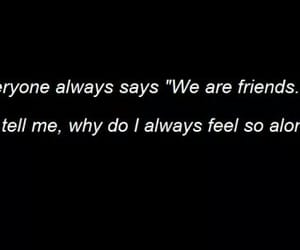 black, quotes, and friends image