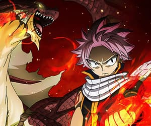 fairy tail, anime, and fire image