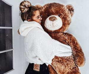 bae, cuddle, and teddy bear image