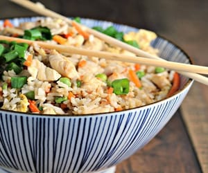 chinese rice dishes and chinese rice food image