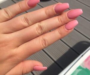 Nagel, nails, and pink image