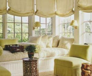 roman shades, window shades, and custom window shades image