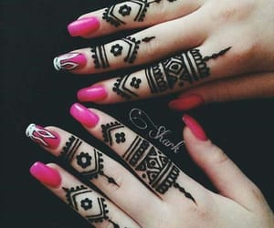 art, henna, and mehndi image