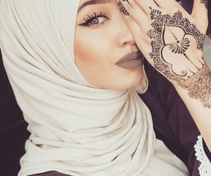 hijab, makeup, and eyes image