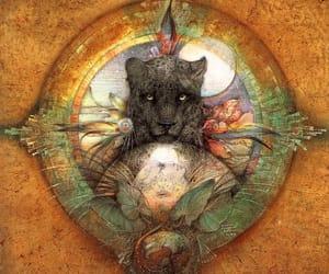 goddess, healing, and jaguar image