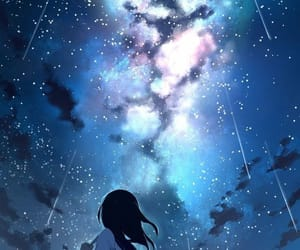 anime, anime girl, and night image