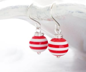 earrings, fashion, and red image