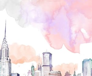 background, pastel, and city image