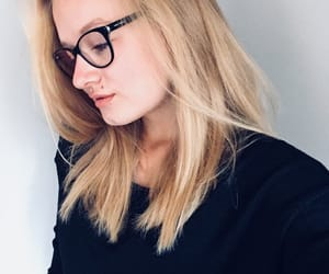 black, blond, and girl image