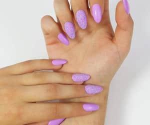 glitter, hand, and nail image