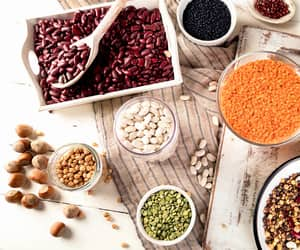 dried red lentils image