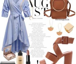 bag, brown, and dress image