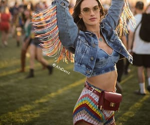bag, festival, and makeup image