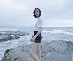 asian, Balenciaga, and beach image