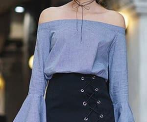 blue, fashion, and mini skirt image