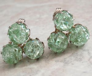 costume jewelry, green, and triangle image
