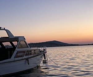 boat, paradise, and swim image