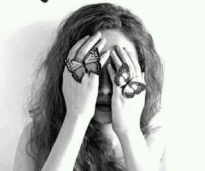 butterfly, beautiful, and girl image