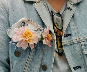 flowers, glasses, and jeans image