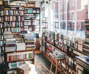 book store, books, and reading image