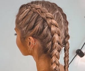 beautiful, hair, and braids image