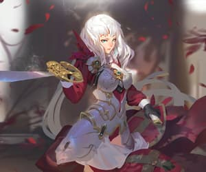 anime, anime girl, and sdorica sunset image