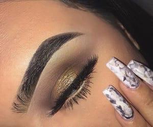 art, contour, and eyeshadow image