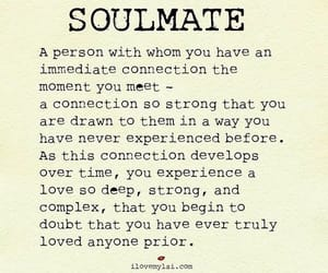 love, quotes, and soulmate image