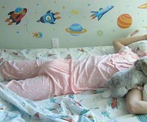 baby girl, kawaii, and pink image