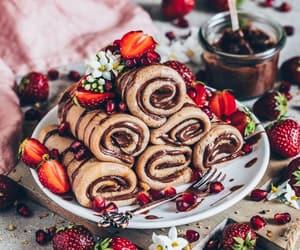 chocolate, comida, and crepes image
