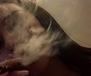 girl, smoke, and dope image