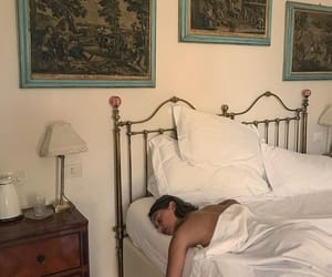 bed, decor, and sleep image