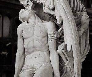 death, sculpture, and art image